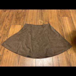 Brown Miniskirt